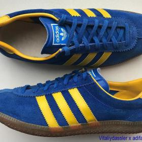 adidas Stockholm vintage 70s West Germany blue yellow