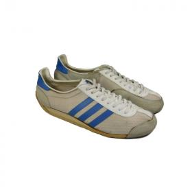 adidas Fencing vintage 70s West Germany white blue